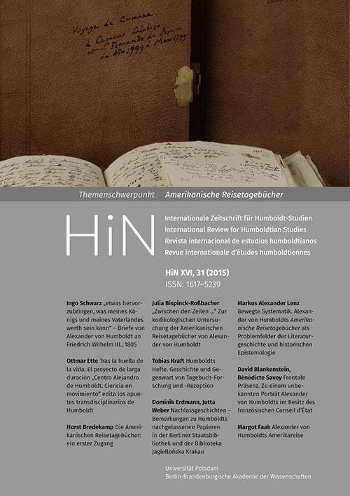Cover von HiN XVI, 31 (2015)