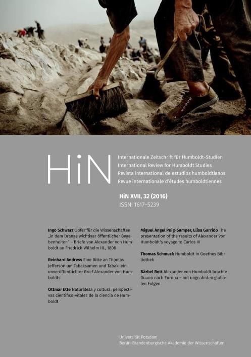 Cover von HiN XVII, 32 (2016)