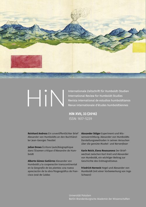 Cover von HiN XVII, 33 (2016)