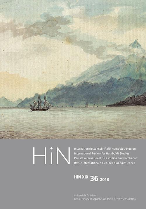 Cover von HiN XIX, 36 (2018)