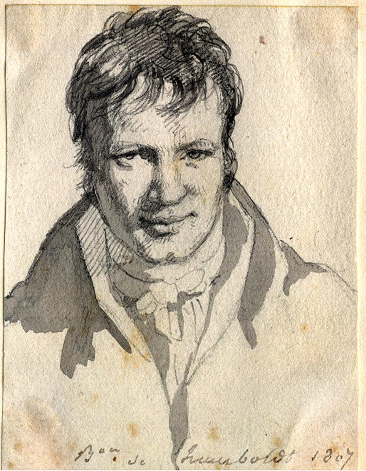 Briefe Alexander Von Humboldt : Frontale präsenz zu einem unbekannten porträt alexander
