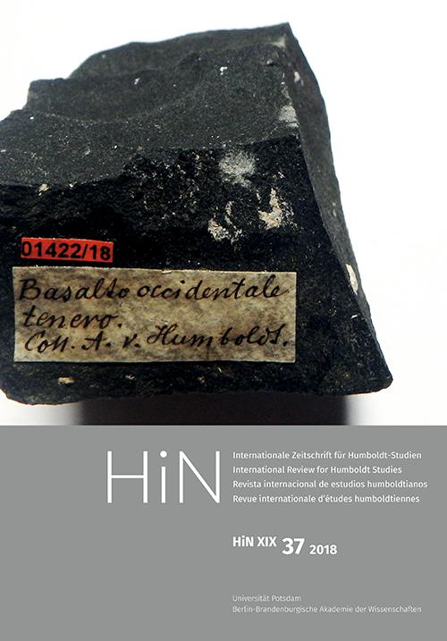 Cover von HiN XIX, 37 (2018)
