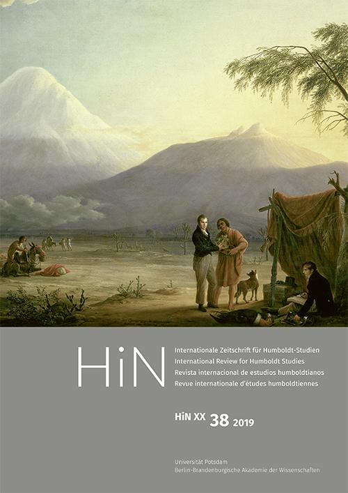 Cover von HiN XX, 38 (2019)