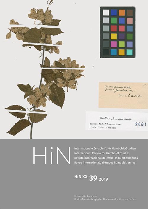 Cover von HiN XX, 39 (2019)
